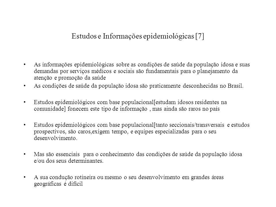 Estudos e Informações epidemiológicas [7]